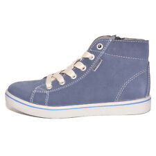 Ricosta Boys Zaynor Blue Suede Zip and Lace Trainers UK 12 EU 30 US 12.5