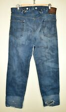 """LEVI 1915 VINTAGE CINCH SELVEDGE SELVAGE JEANS 36"""" WAIST 32"""" LEG MADE IN USA"""