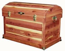 """Amish Handcrafted 24"""" Cedar Chest Trunk Dome Top Solid Cedar"""