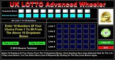 USB DATA STICK UK Lotto Advanced Wheeler Lottery System