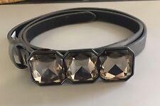 Women's Banana Republic Sz M Silvery Synthetic Leather Belt