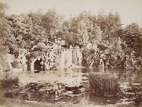 "Wasserfall im Wald von Boulogne, ""Bois de Boulogne"", um 1900,  Fotografie"