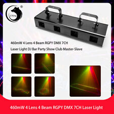 4 Lens 460mW Dmx Projector Dj Led Laser Stage Lighting Club Party Light Show Pub