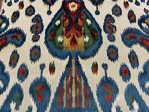 Schumacher Epingle Velvet Fabric - Tabriz Ikat Velvet / Multi 0.65 yds 73930