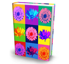 Pop Art Ultra Print Warhol Style Flower Stretch Fabric Book Sox Cover Jumbo Size