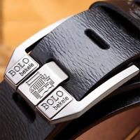Men's Belt Genuine Leather Belt Strap Retro Pin Buckle Casual Jeans Belt for Men