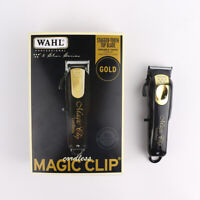 Wahl Cordless Magic Clip Clipper Black & Gold Limited Edition Set