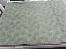 Micheal Miller 100% Cotton Fabric Green background with light & dark Teal flower
