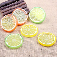 10PCS Artificial Fruit Simulated Lemon Slice Home Table Decorative Photo G9Z