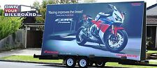 MOBILE  BILLBOARD TRAILER ADVERTISING SIGN WITH VINYL BANNERS 10'x17'