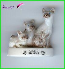 """Feve Les Races de Chat Cat Edition Atlas """" Les Chats Siamois """"  #A17"""