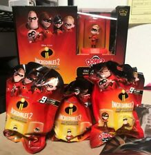 "3x THE INCREDIBLES 2 DOMEZ DISNEY PIXAR 2"" COLLECTIBLE BLIND MINI FIGURE BAG NEW"