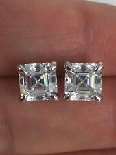 Square Cz Silver Rhodium Stud Earrings Dani by Daniel K 3.0 Ctw Asscher