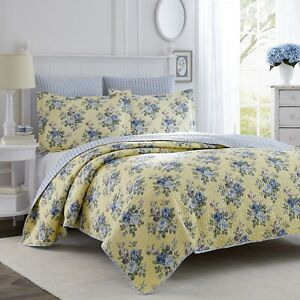Laura Ashley Linley 2-Piece  Quilt Set, Cotton, Twin/Full/Queen/King