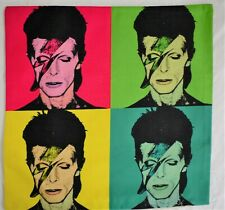 David Bowie Warhol Print Retro Linen Cushion Pop Art Cover 70s Music Band Album