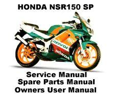 HONDA NSR 150 SP REPSOL Owners Workshop Service Repair Parts Manual PDF on CD-R