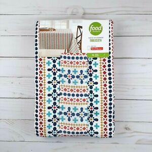 Food Network Fabric Tablecloth Geometric Stripe 60x120