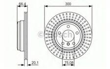 2x BOSCH Discos de Freno Traseros Ventilación interna 300mm 0 986 479 045