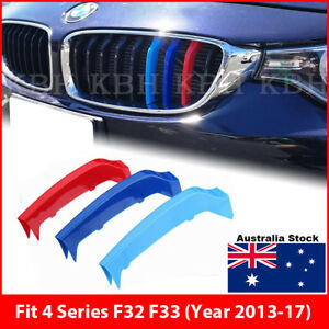 M-Tech Kidney Grille 3 Colour Cover Clip for BMW 4 Series F32 F33 Year 2013-2017