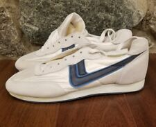 Artis Vintage 80's White Suede/Mesh With Blue Running Shoes Size 9D rare OG race