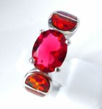 Silver Plated Topaz Costume Rings