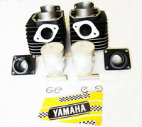 RD 350 yamaha cylinders pistons kit 1973 1974 RD350 cylinder kit