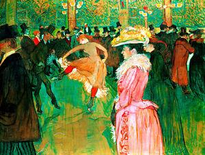At the Moulin Rouge The Dance by Henri de Toulouse Lautrec Quality Canvas Print