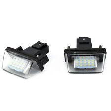 UK White Led License Number Plate Light For Peugeot 206 207 307 308 406 407 12V