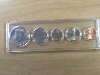 2020 D Mint Set, Birth Set in New EM Holder; 5 BU/MS Coins; Half Dollar - Penny