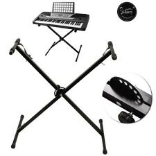 More details for new keyboard stand single x type adjustable electronic piano metal rack portable