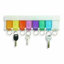 Schlüsselleisten mit 8 Anhänger zum Beschreiben Schlüsselbrett ohne Bohren