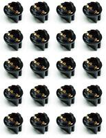 20x #555 T10 Pinball Lamp Light Bulb Socket Twist Lock Wedge instrument Base