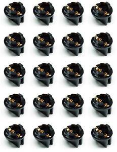 20x #555 T10 Pinball Lamp Light Bulb Socket Twist Lock Wedge instrument Base