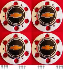 4pcs 6-LUG CHEVY 1500 SILVERADO SUBURBAN BLAZER Wheel Center Cap SET w/ Screws