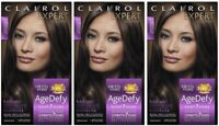 3 Pack Clairol Expert Collection 3.5 Darkest Brown Age Defy Hair Color