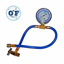 """Enviro-Safe R-134a Can to R12 & R22 Low Side Port 19"""" Can Tap with Gauge"""