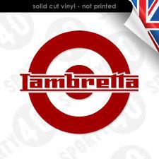 2 x Lambretta Roundal  Vinyl Sticker Decal Side Panel Lambretta 8478-0119