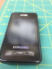 SAMSUNG SGH-D980 DOUBLE SIM CELL PHONE TRI BAND BLACK TOUCH SCREEN