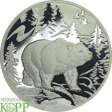 O789) Rusia 3 rublos 2009 plata-mundo animal oso