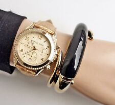 Original Michael Kors Uhr Damenuhr MK5283 BLAIR  Leder Farbe:Gold Kristall  NEU