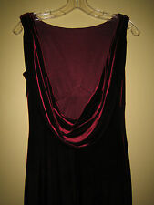 Burgundy velvet maxi dress. A.B.S. small. Low draped cowl back. Excellent.