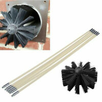 Drill Powered Chimney Cleaning Kit Flue Brush Cleaner Fireplace Sweep Rotary Kit