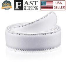 Oversize 3.5 cm Belt White Strap for Automatic Ratchet Buckles Belt STRAP ONLY