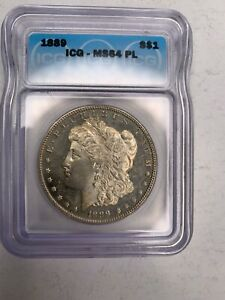 1889 Morgan Dollar ICG MS64 PL S$1 Flashy Beautiful Coin with No Reserve