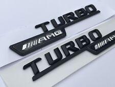 MERCEDES-BENZ W117 CLA GLA W176 A45 45 C63 E63 AMG Turbo Lato Ala Badge Logo