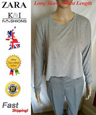 Zara Polyester Long Sleeve Casual Tops & Shirts for Women