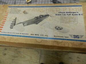 PT-19 Fairchild Rc airplane balsa kit  by sig   Org.  Vintage kit