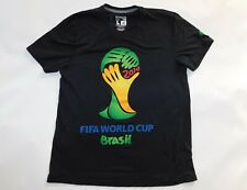Official 2014 FIFA WORLD CUP BRASIL BRAZIL ADIDAS Ultimate Tee Jersey Shirt L
