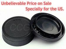 Camera Body Cap +Rear Lens Cap Cover for Nikon D7100 D7000 D5000 D5100 D3100 D90