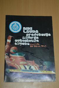NIKI LAUDA HAND SIGNED AUTOGRAPH FORMULA ONE PROGRAM TICKET 1975 YUGOSLAVIA HUNT